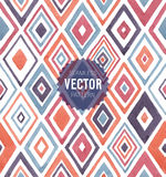 Watercolor seamless pattern. Vector illustration stock illustration