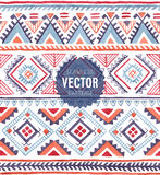 Watercolor seamless pattern. Vector illustration Stock Images