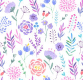 Watercolor seamless pattern. Vector illustration Stock Photo