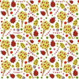Watercolor seamless pattern stock illustration