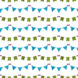 Watercolor seamless pattern on white background vector illustration