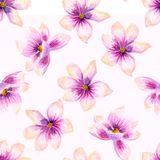 Watercolor seamless wallpaper with flowers, bohemian watercolour decoration pattern. Design for invitation, wedding or stock images