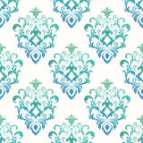 Watercolor seamless wallpapers in the style of Baroque . Can be used for backgrounds and page fill web design. Vector Illustration Stock Image