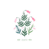 Watercolor sesame plant Royalty Free Stock Photo