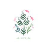 Watercolor sesame plant Royalty Free Stock Photo