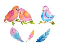Watercolor Easter Sets vector illustration