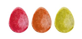 Watercolor Easter eggs Royalty Free Stock Photo
