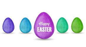 Watercolor Easter eggs Royalty Free Stock Images