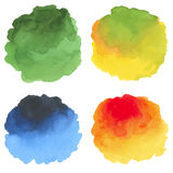 Watercolor set of hand painted stains. Design elements vector illustration