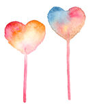Watercolor set of lollipop Stock Photography