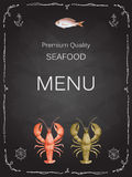 Watercolor set of seafood Royalty Free Stock Photos