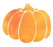 Watercolor silhouette of pumpkin Stock Photo