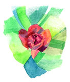 Watercolor sketch flower. A light sketch of a flower done in watercolors Stock Image