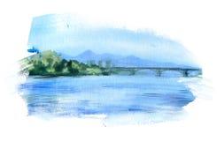 Watercolor sketch royalty free illustration