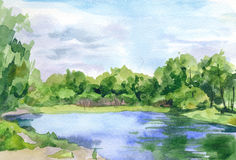 Watercolor sketch Royalty Free Stock Image