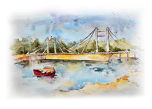 Watercolor sketch. Royalty Free Stock Images