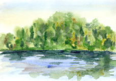 Watercolor sketch Royalty Free Stock Images