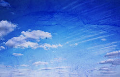 Watercolor sky Stock Image