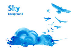 Watercolor sky background Stock Photos