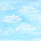 Watercolor sky and clouds Stock Photos