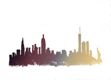 Watercolor skyline of new york city Royalty Free Stock Image