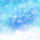 Watercolor snowflake background Stock Photo