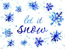 Watercolor Snowflake Card Stock Photo