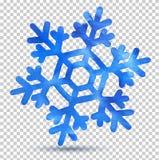 Watercolor snowflake Stock Photos
