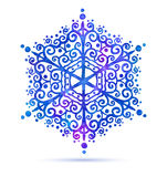 Watercolor snowflake Royalty Free Stock Images