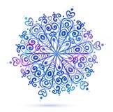 Watercolor snowflake Stock Photo