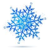Watercolor snowflake Royalty Free Stock Image