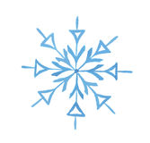 watercolor snowflake. Stock Image