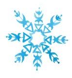 watercolor snowflake. Royalty Free Stock Image