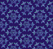 Watercolor Snowflakes Frozen seamless pattern Royalty Free Stock Images