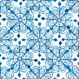 Watercolor snowflakes seamless pattern Foto de Stock