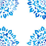 Watercolor snowflakes seamless pattern Royalty Free Stock Photography