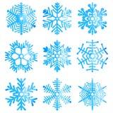 Watercolor snowflakes. Stock Image