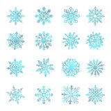 Watercolor snowflakes, VECTOR, star, symbol, graphic, crystal, decoration, Stock Photography