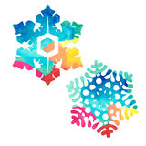 Watercolor snowflakes Stock Photography