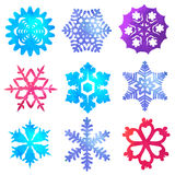 Watercolor snowflakes Royalty Free Stock Photography