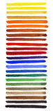 Watercolor spectrum. Watercolor hand painted brush strokes. Spectrum royalty free illustration