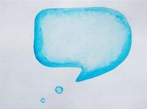Watercolor speech bubble Stock Images