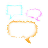 Watercolor speech bubble Stock Image