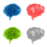 Watercolor Speech Bubble Set Royalty Free Stock Photo