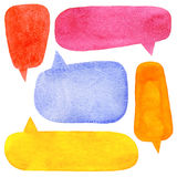 Watercolor Speech Bubbles Royalty Free Stock Image