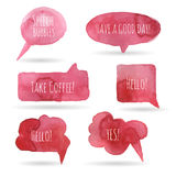 Watercolor speech bubbles Royalty Free Stock Photos
