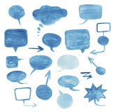 Watercolor Speech bubbles. Royalty Free Stock Image