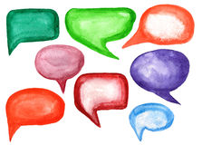 Watercolor speech bubbles Stock Images
