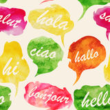Watercolor Speech And Thought Bubbles Stock Photo