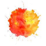 Watercolor splash. Stock Photo